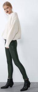 🌟NWT ZARA Green Faux Leather Leggings 🌟